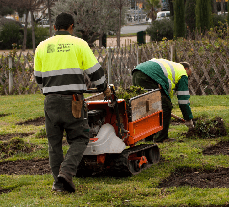 Inclusive employment in park maintenance, Barcelona, Spain