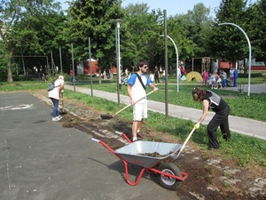 Clean up of green spaces