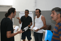 One of the participative meetings held with the residents to dicsuss the project