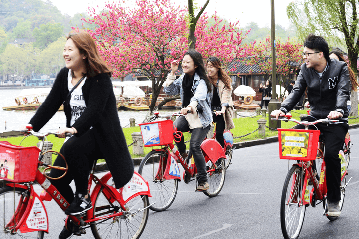 Hangzhou,China: Urban Public Bicycle Sharing Program