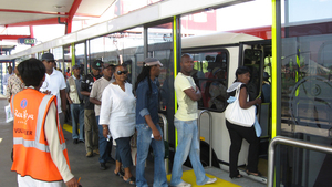 The Bus Rapid System 'Rea Vaya', Johannesburg, South Africa
