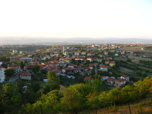 General view of Başiskele, Kocaeli.