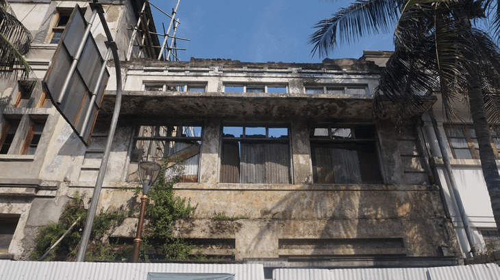 Ruins of a house from the colonial era in Kota Tua