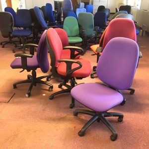 Office chairs for re-use