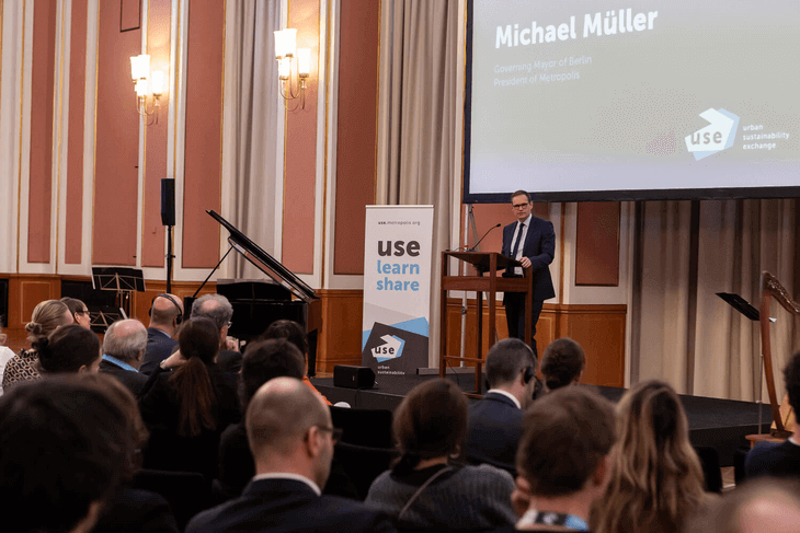 Berlin Governing Mayor Michael Müller event's opening address