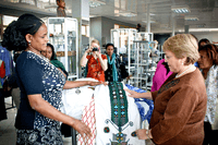 Executive Director Michelle Bachelet observes a MSE