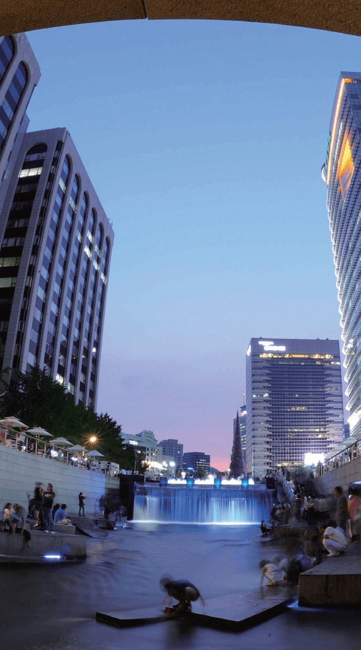 LED Lights in Cheonggyecheon