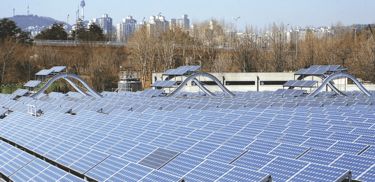 Solar power station inside the Seoul Forest