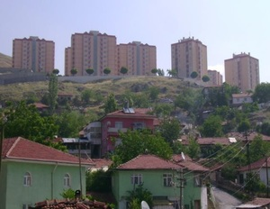 Eserkent Mass Housing Area behind the gecekondus (Derbent area)