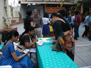 Fund raising at Sri Aurobindo School