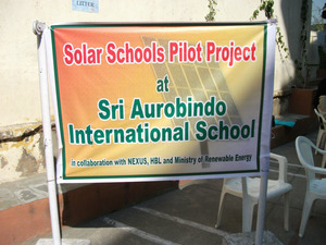 Sign indicating Solar School