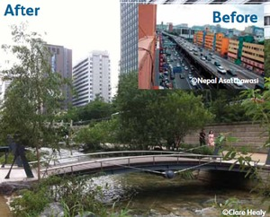 Cheonggyecheon Stream : Before and After